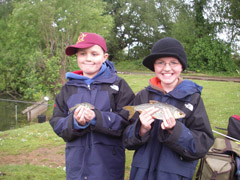 Tom and Will on their first day's fishing.